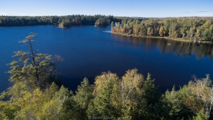 Drone view of Long Lake from Elmore point