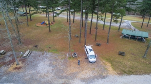Smith Lake Park campground from drone
