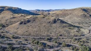 Davis MountainsState Park drone shot of primitive area