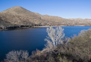 Patagonia Lake State Park drone view