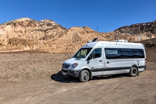 Vanessa parked near Desolation Canyon, Death Valley National Park