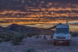 Sunset and Vanessa at Palm Canyon, Arizona