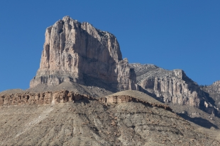 El Capitan from lookout on US-180, Texas