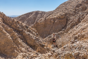 Side canyon trail, Mecca Hills Wilderness, Box Canyon Road, California