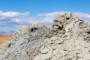 Mud cones, Davis-Schrimpf Seep Field, Niland, California