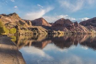 Colorado River in late sun, Buckskin Mountain State Park, Parker, Arizona