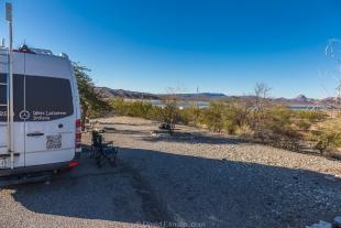 Vanessa in campsite A12, Alamo Lake State Park, Arizona