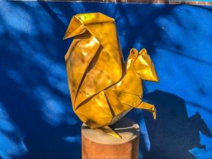 Seed Sower (squirrel): Origami by Kevin and Jennifer Box, Tucson Botanical Gardens, Arizona