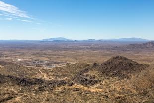 View towards Congress, Arizona from Granite Mountain, Prescott, Arizona