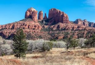 Cathedral Mountain viewed from Jones Lane near Sedona, Arizona