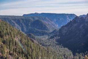 Looking south into canyon along Route 89A towards Sedona, Arizona