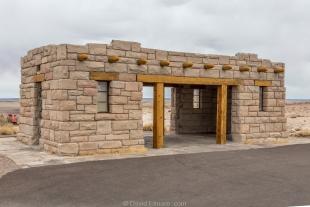 CCC building at Agate Bridge, Petrified Forest National Park, Arizona