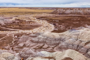 Badlands view from Blue Mesa, Petrified Forest National Park, Arizona