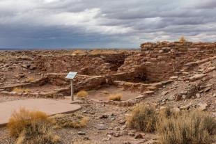 Restored dwelling site II, Homolovi State Park, Winslow, Arizona