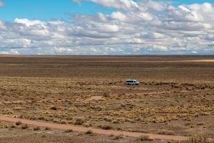 Vanessa in nothingness, Homolovi State Park, Winslow, Arizona