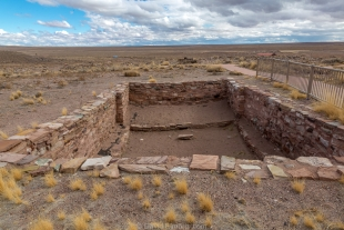 Restored large dwelling site II, Homolovi State Park, Winslow, Arizona
