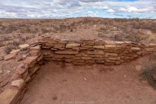 Restored dwelling site I, Homolovi State Park, Winslow, Arizona