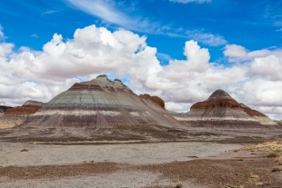Badlands and clouds, Petrified Forest National Park, Arizona