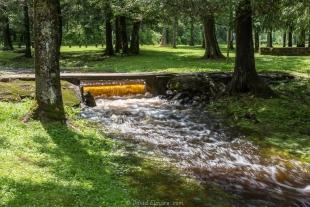 Falls after heavy rain, Ojibwa Park, Winter, Wisconsin