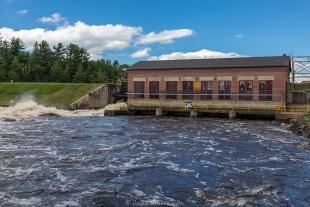 Power plant, Pixley Flowage 783 near Park Falls, Wisconsin