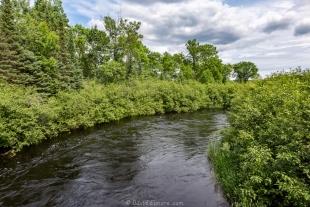 Flambeau River facing west, Smith Rapids near Park Falls, Wisconsin