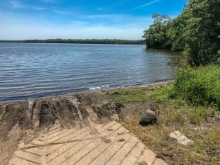 Boat ramp, Chippewa Campground, Chequamegon National Forest, Gilman, Wisconsin