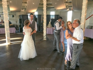 Dancing at Claire and Ollie wedding, The Round Barn, Lexington, KY
