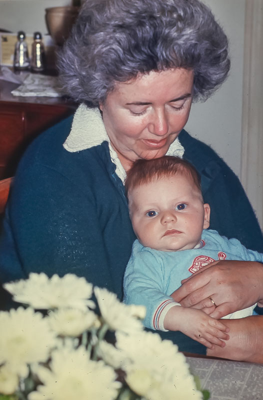 Andrew with Mama Dot - May 1975