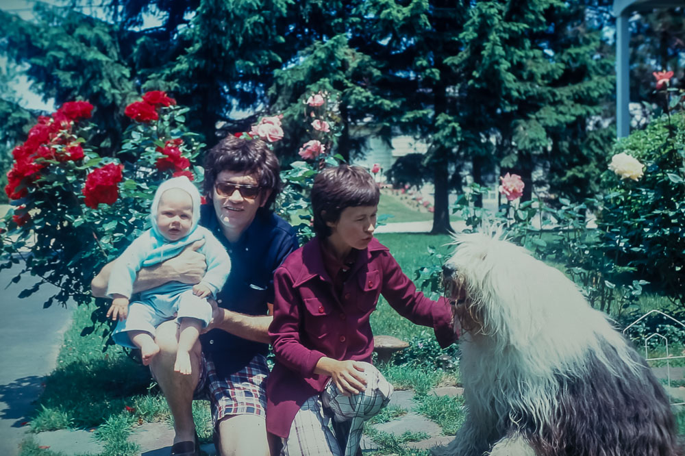 Bob and Muriel McMillan with Phaedra and Seth (Quinby Road Neighbors) - June 1975