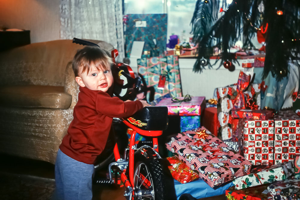 Andrew - Christmas 1975 - Rick's bike
