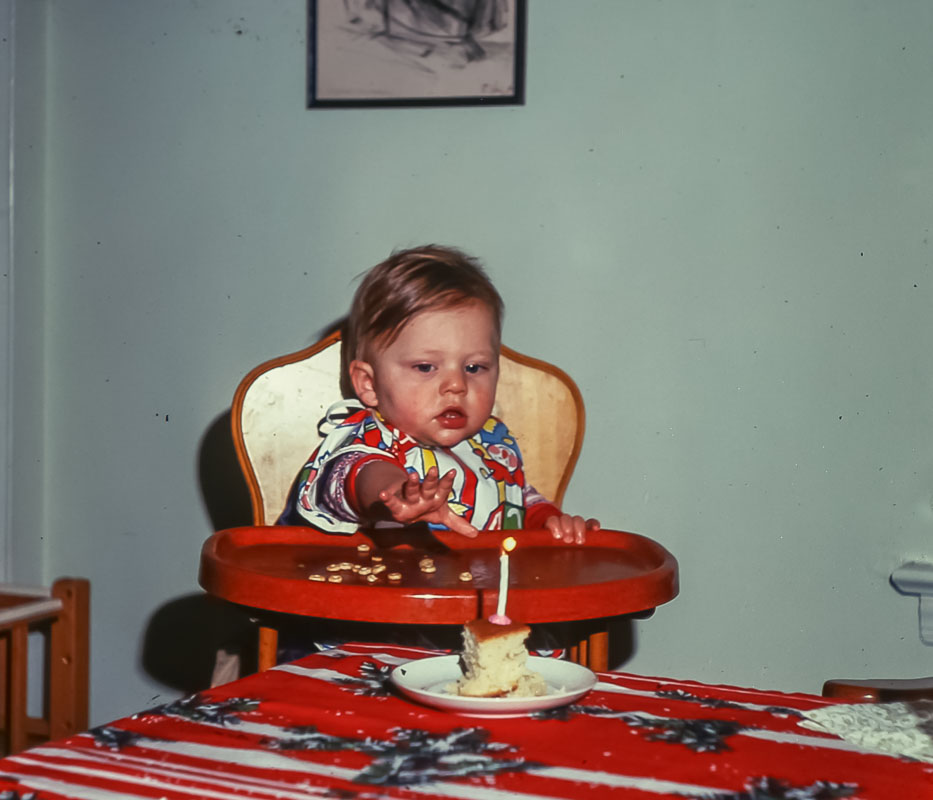 Andrew - 1st birthday - December 1975
