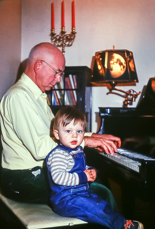 Grampa Bill and Andrew - December 1975