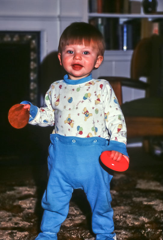 Andrew - First steps - January 1976
