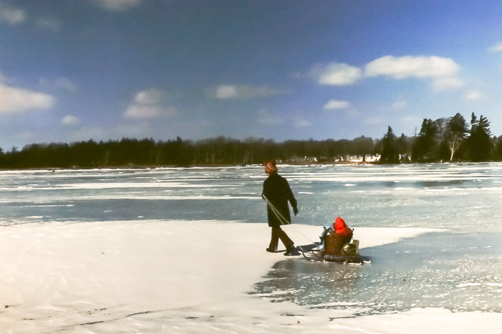 Crossing Sand Lake - March 1976