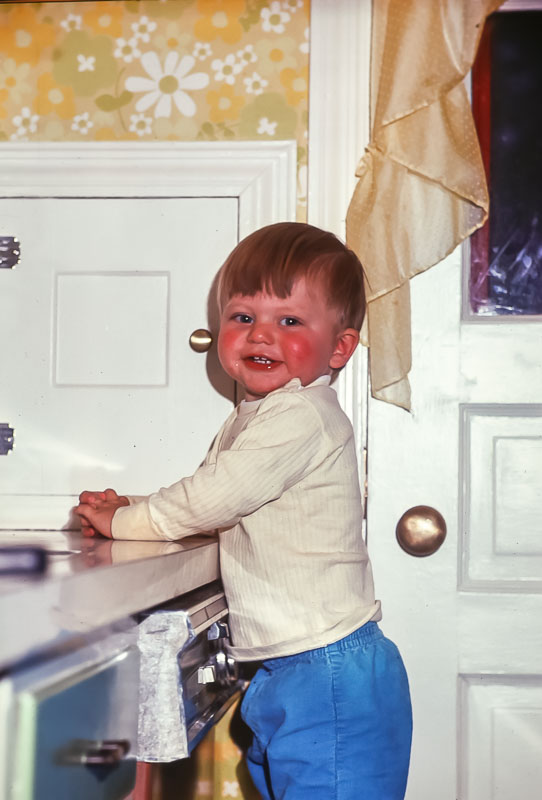 Andrew at the sink - 12 Pickford - May 1976