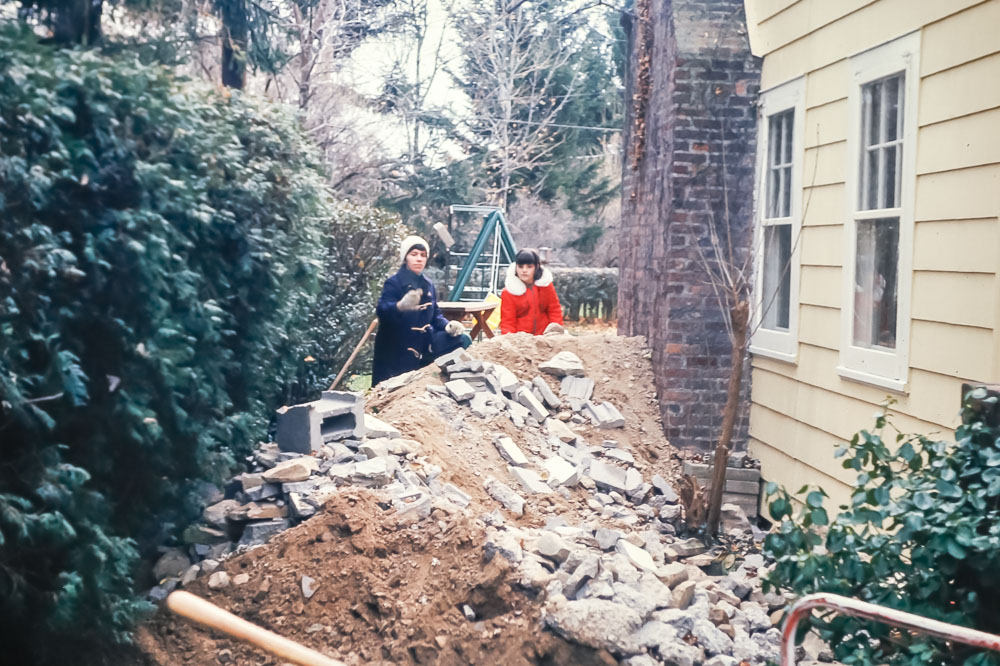 Digging out the coal bin with Kelly Kita - November 1976
