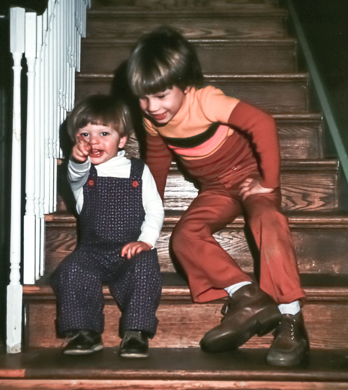 Rick and Andrew - December 1976