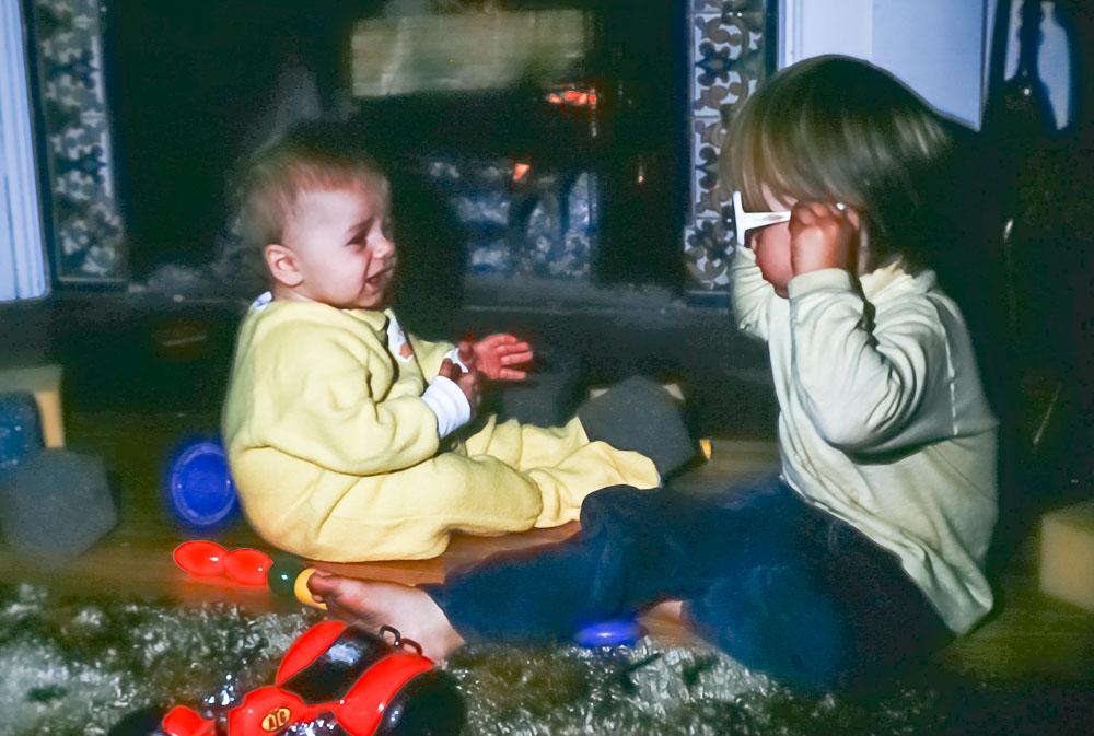 Steven and Andrew - November 1977