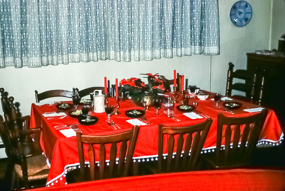 Christmas dinner table 1977