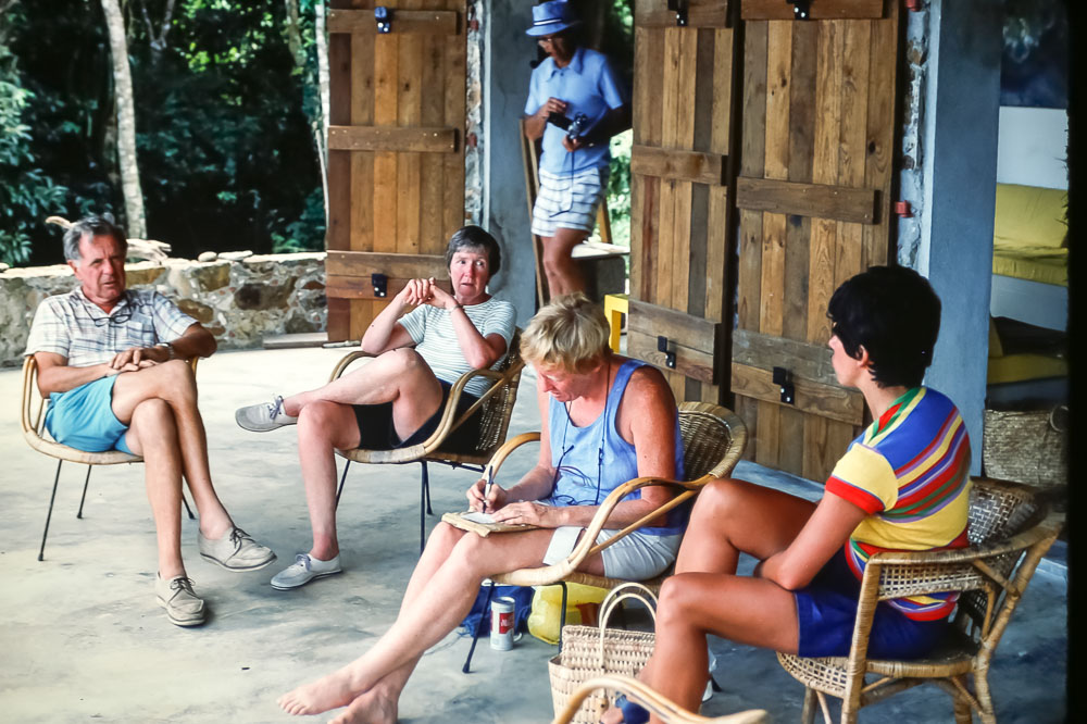 porch at Hunt's cabin - BVI - February 1978
