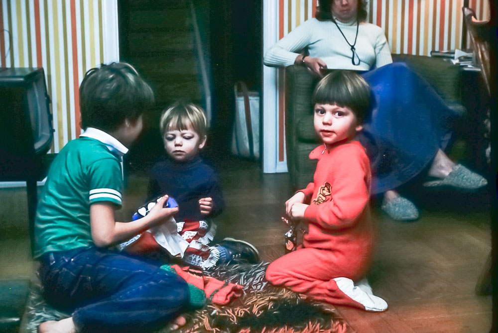 Rick, Steve, Andrew, Mary - December 1978