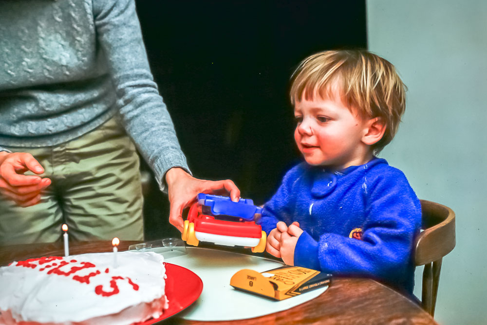 Steven's second birthday