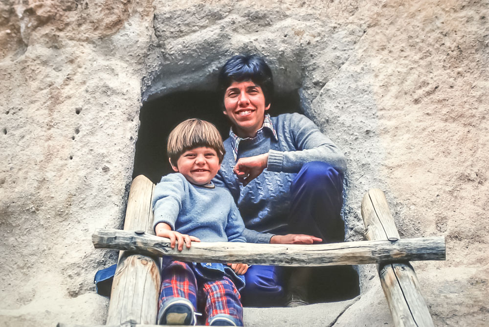 Janet and Andrew at Bandolier NM - May 1979