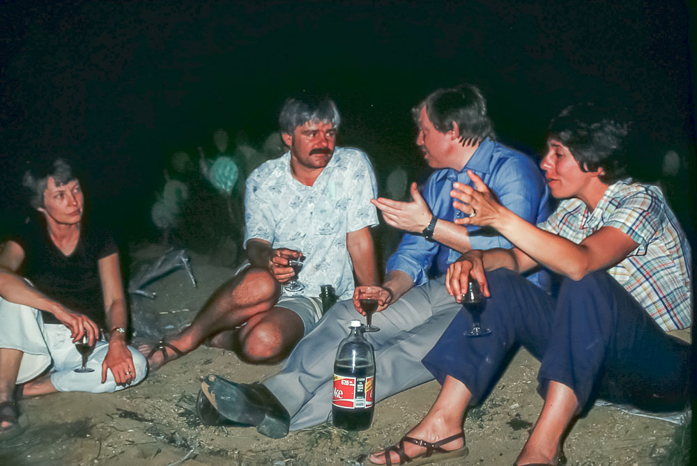 Desert picnic with Bentleys and Rolf - May 1979