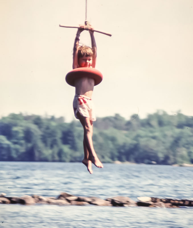 Steven on zoomer  - July 1980