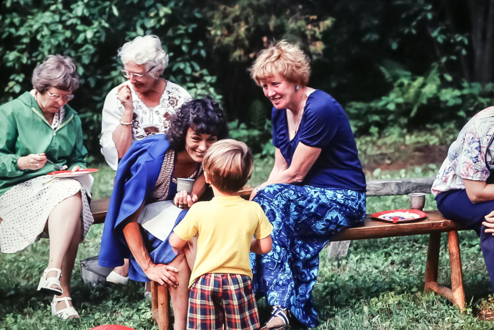 Steven charming the ladies - July 1980