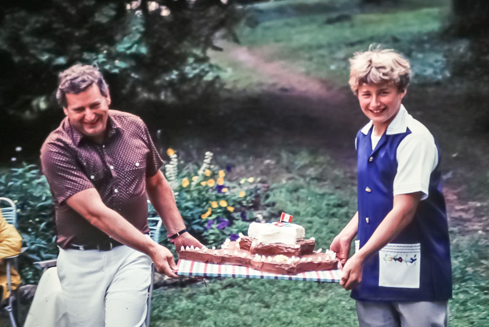 The cake arrives - July 1980