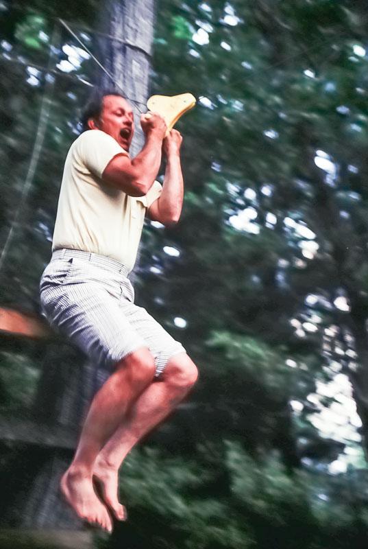 Jack Barnard's turn to get wet - July 1980