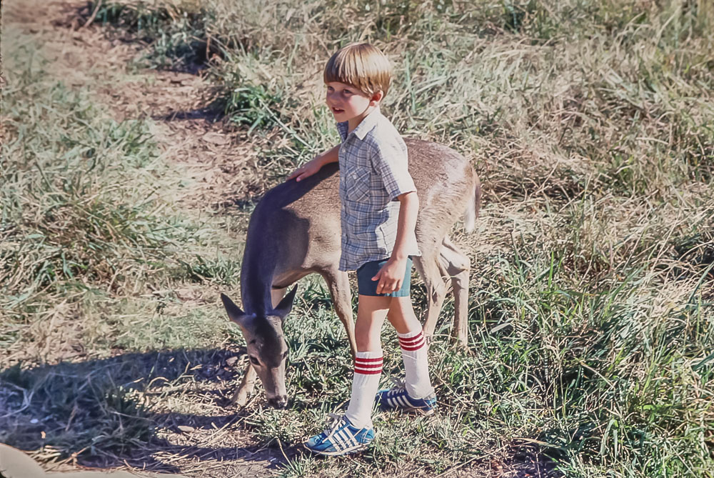 Andrew at the Armand Bayou Nature Center - November 1980