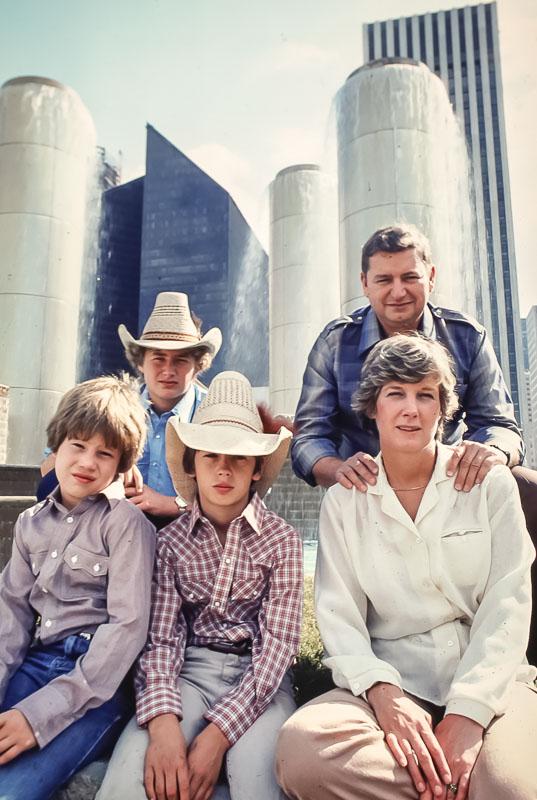 the Miller Family - Houston - November 1980